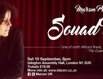 Preview: Souad Massi @ Islington Assembly Hall  (London, 10th September 2016)
