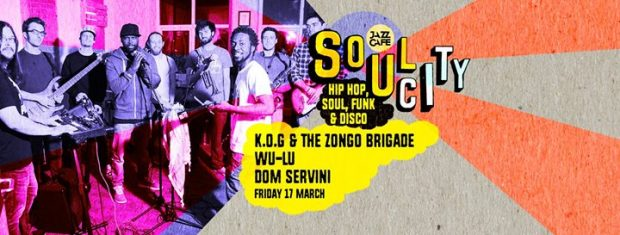Preview: K.O.G. & the Zongo Brigade + Wu-Lu & DJ Gilla @ Jazz Café (London, 17th March 2017)