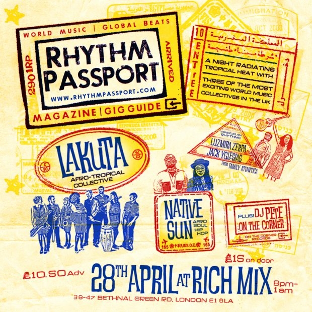 Preview: Lakuta + Native Sun + Luzmira Zerpa & Jack Yglesias from Family Atlantica + DJ Pete On the Corner @ Rich Mix (London, 28th April 2017)