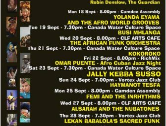 Preview: The LondonAfricanMusicFestival(London, 18th to 30th September)