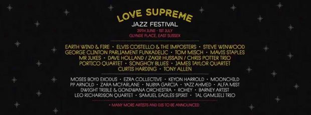 Preview: Love Supreme Jazz Festival @ Glynde Place (Glynde; Friday 29th June to Sunday 1st July 2018)