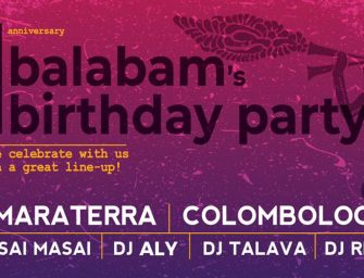 Preview: Balabam's 1st Year Anniversary Party @ Balabam (London; Saturday 15th December 2018)