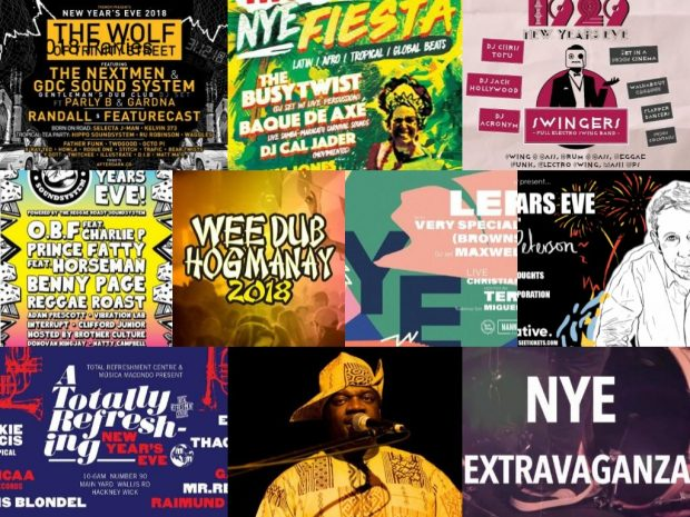 Preview: NYE 2018 Parties Round-Up (London, Bristol, Brighton & Edinburgh; Monday 31st December 2018)