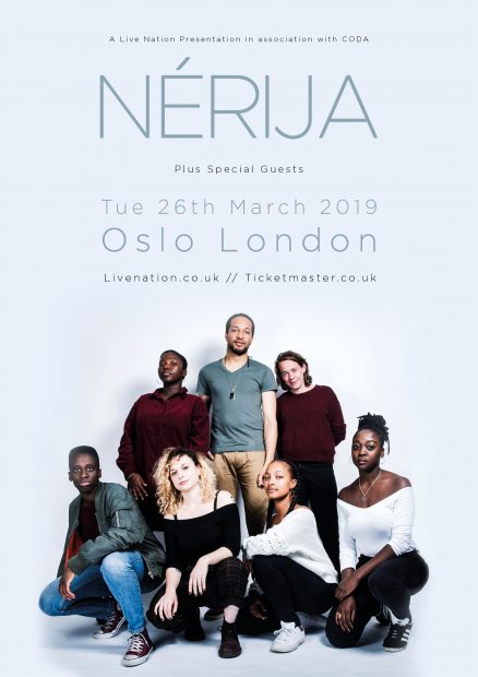 Preview: Nerijia @ Oslo Hackney (London; Tuesday 26th March 2019)