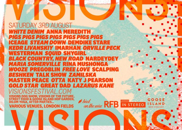 Playlist: Visions Festival 2019 @ London Fields (London; Saturday 3rd August 2019)