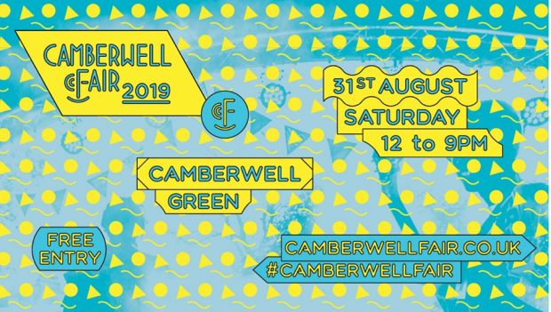 Preview: Camberwell Fair 2019 @ Camberwell Green (London, Saturday 31st August 2019)
