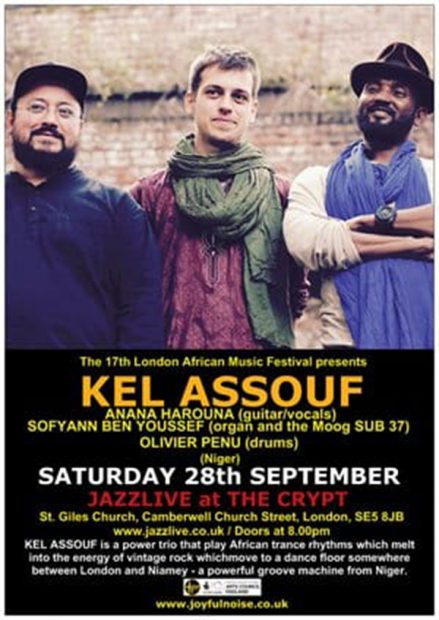Preview: Kel Assouf @ Jazzlive at The Crypt (London; Saturday 28th September 2019)