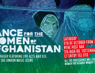 Event Preview: Dance for the Women of Afghanistan @ The Post Bar (London; Saturday 9th October 2021)